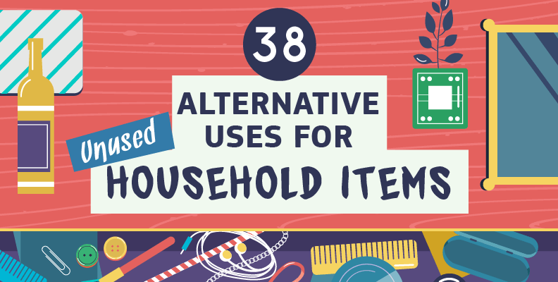 38 Alternative Uses for Unused Household Items