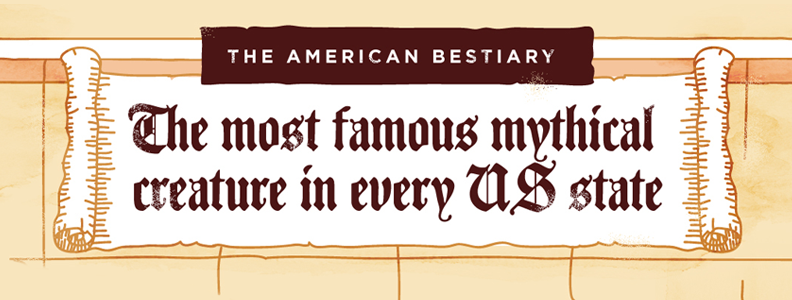 The American Bestiary: The Most Famous Mythical Creature of Every US State, Illustrated