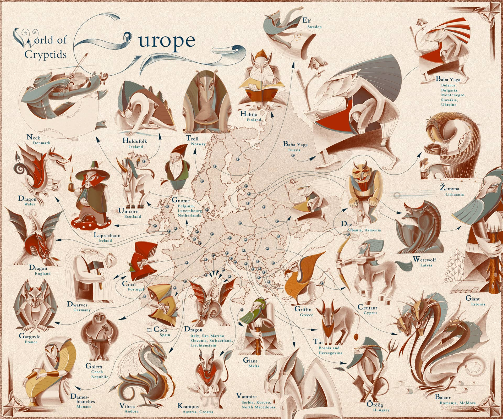 Europe Most Famous Mythical Creature