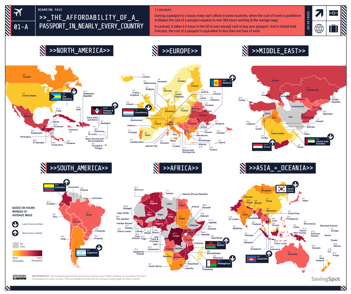 WORLD Passport AFFORDABILITY MAP